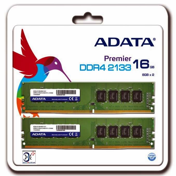 ADATA Launches Premier DDR4