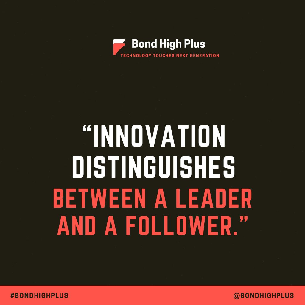 """""""Innovation distinguishes between a leader and a follower."""" - Steve Jobs Quotes"""