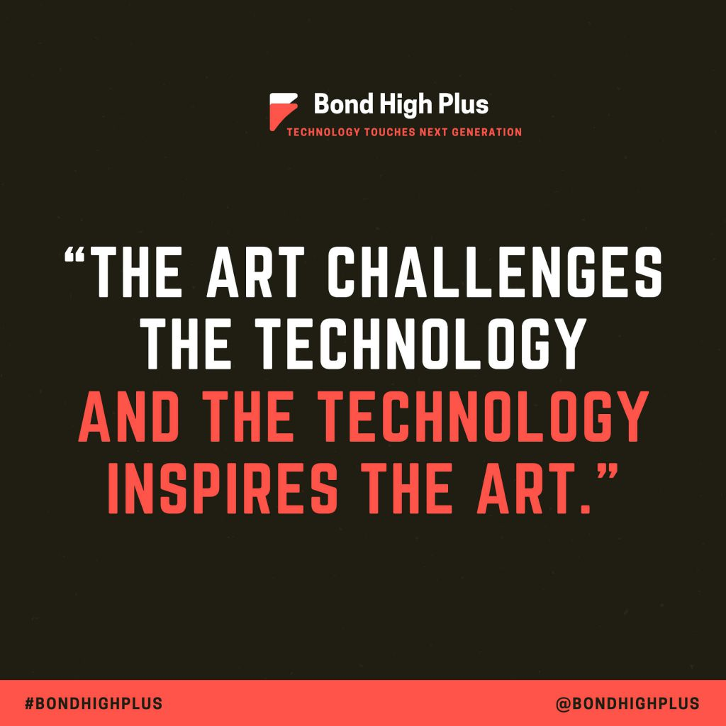 The art challenges the technology, and the technology inspires the art. - John Lasseter